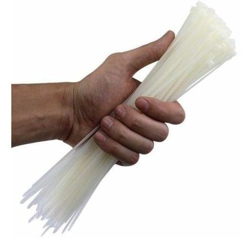 100 abraçadeira nylon enforca gato branco 4,8mm x 450mm 45cm
