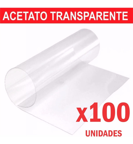 100 acetato laminas de 50x70cm planchas cristal transparente