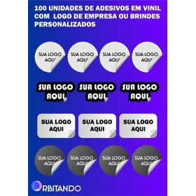 100 Adesivos (plasticos  A Prova D'agua) Vinil Empresa