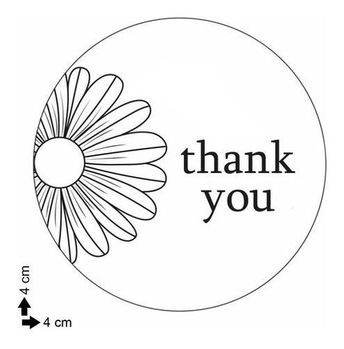 100 adesivos etiqueta obrigado thank you 3 embalagem
