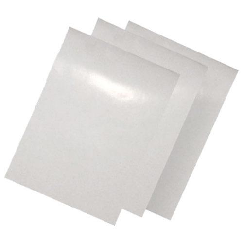 100 adesivos vinil transparente p/ impres. jato de tinta a4