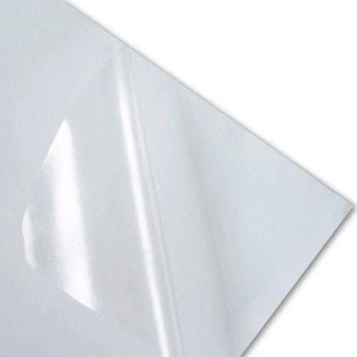 100 adesivos vinil transparentes a4 p/ laser a prova d água