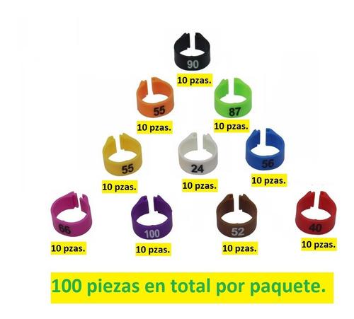 100 anillos para gallos de pelea, gallinas de postura 14 mm