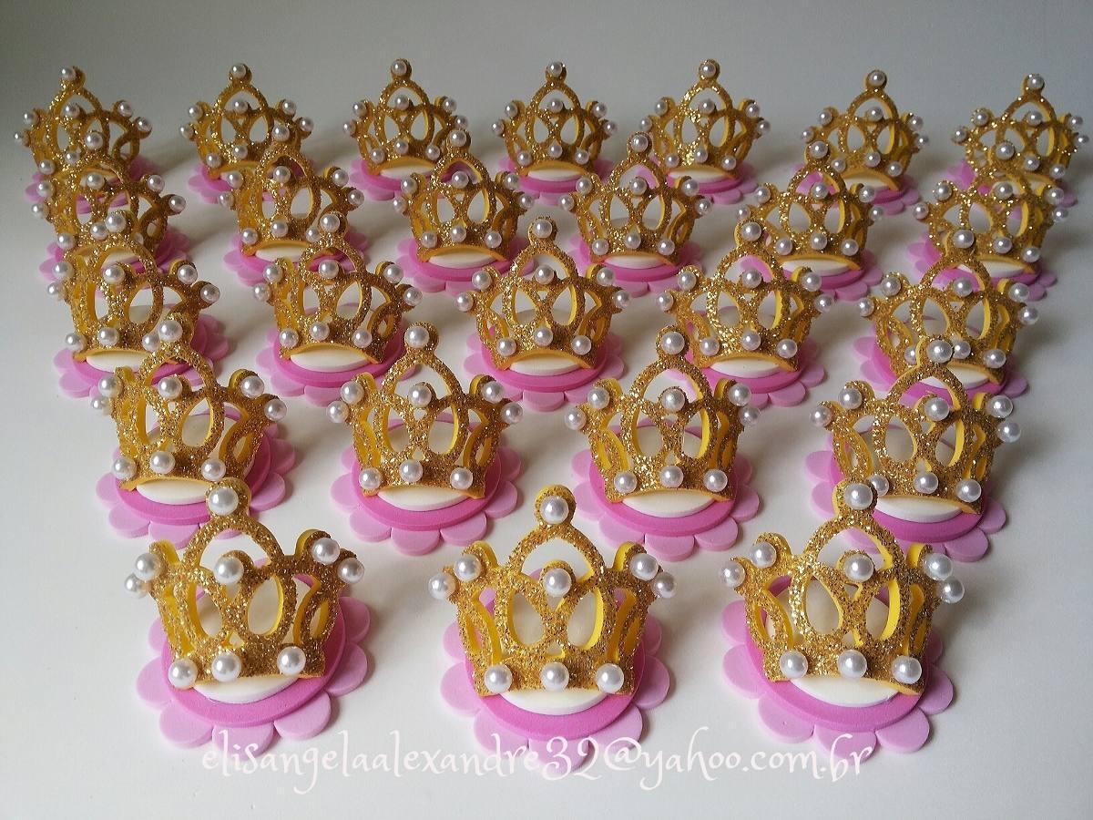 100 Apliques Coroa Princesa P/lembrancinhas Caixinha 5x5 - R$ 119 ...