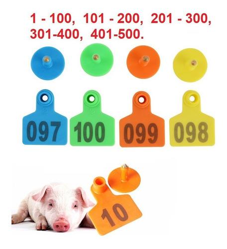100 aretes para cerdo, cabra, ganado, etc. enumerados láser.