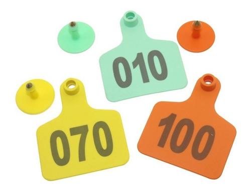 100 aretes para toro, vaca, ganado, etc. enumerados láser.