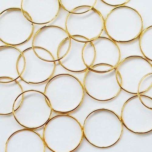 100 argolas em aço inox dourada montagem de lustres 10mm