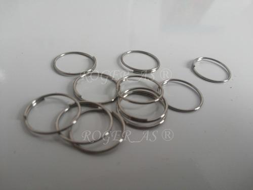 100 argolas em aço inox para montagem de lustres 12mm