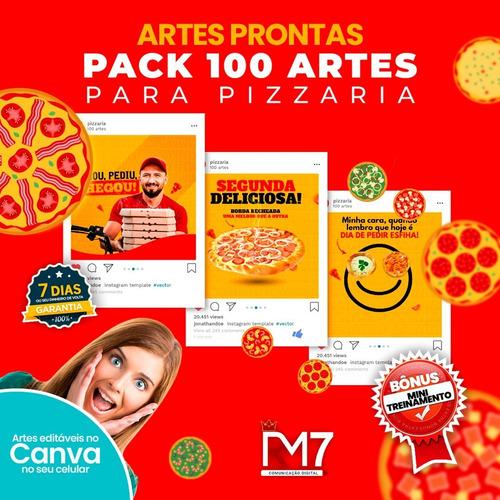100 artes prontas para pizzarias