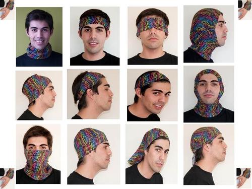 100 bandana diseños, trekking ciclismo tubular 50x20 + envio
