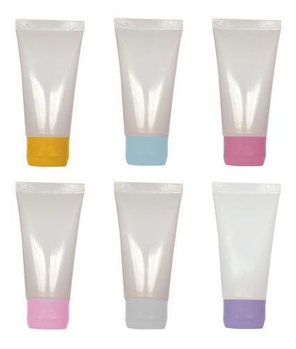 100 bisnaga plástica p/ lembrancinhas 60 ml c/ tampa flip to