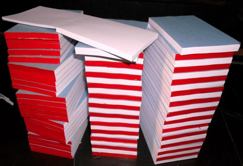 100 blocos rascunho 10x7 - c/100 fls s/ pauta capa colado