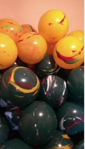 f5cc7f64f 100 Bolas De Vinil Coloridas Bola Grande Marmorizadas Festa - R$ 299 ...