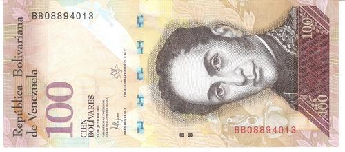 100 bolívares series aa, af, bv, bb, cc, u, be, bl, q y bd.