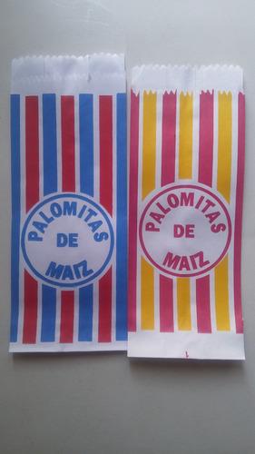 100 bolsa para palomitas de maiz dos colores