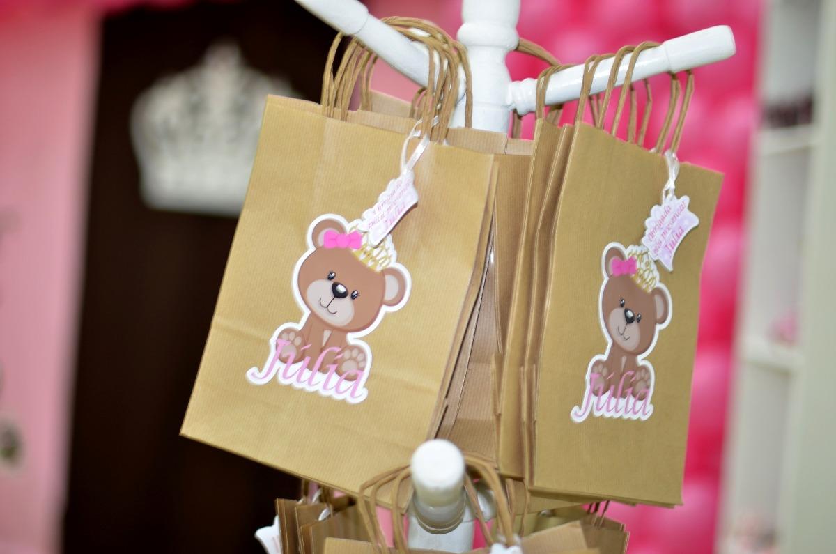 Bolsa De Festa Diferente : Bolsa sacola saco kraft personalizado tema festa