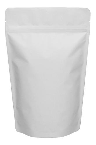 100 bolsa stand up pouch laminada cierre blanco mate 150 grs