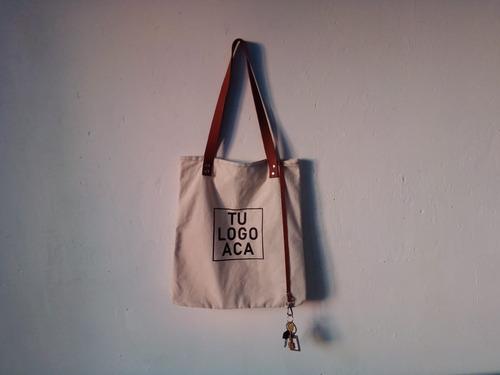 100 bolsas de lienzo y cuero vacuno genuino estampadas