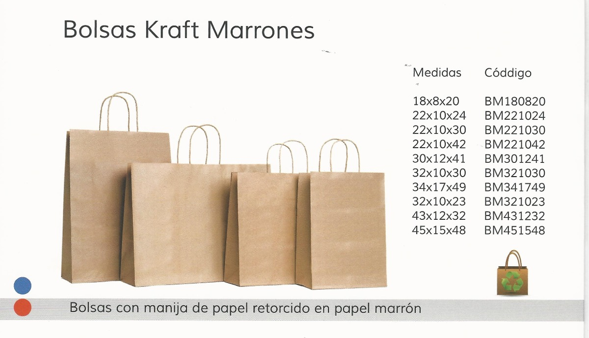a1adfc156 100 Bolsas De Papel Kraft Marron C/manija 18 X 8 X 20 - $ 560,00 en ...