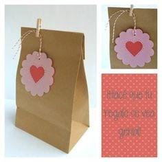 100 bolsas de papel kraft para recuerdos dulces boda babys - Hacer bolsas de papel para regalo ...