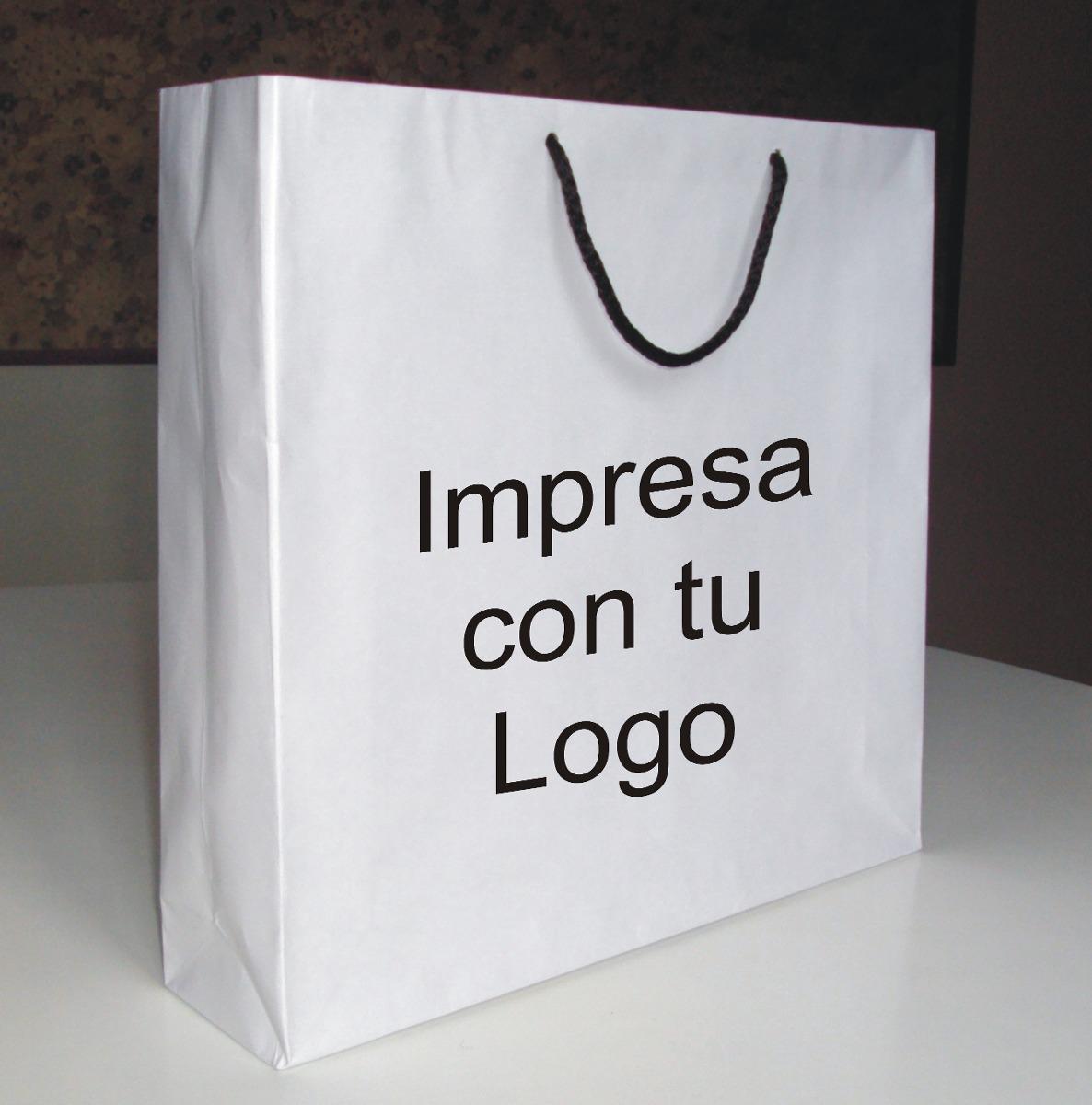 c6837be33 100 Bolsas De Papel Para Boutique - (33 X 31 X 8) - Impresas ...