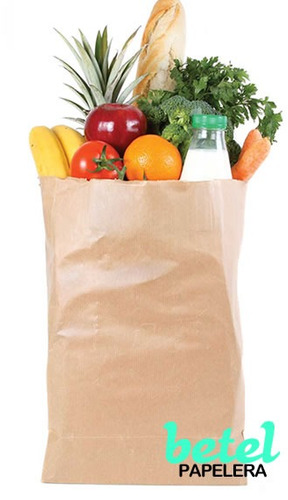 100 bolsas delivery papel kraft (reciclable ecológica) nro 3