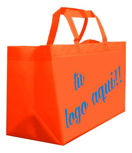 100 -bolsas eco con impresión en serigrafia 1 cara 1 tinta
