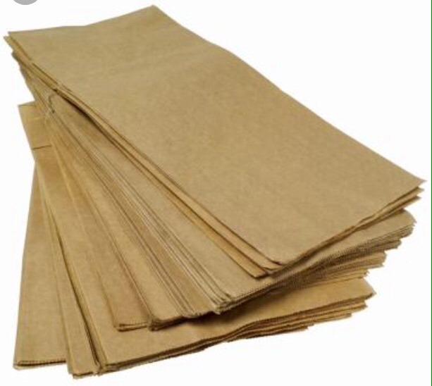 100 bolsas papel estraza o craft color café o blanco 249 00 en