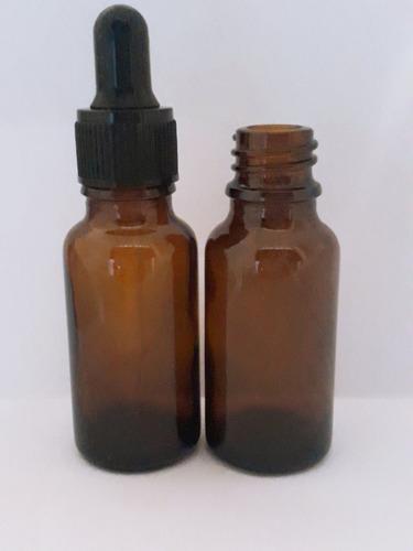 100 botella gotero pipeta vidrio 20ml ambar(it-95)