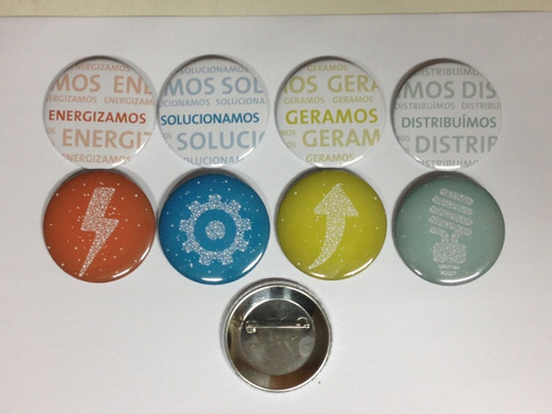 100 bottons buttons bóton broches personalizados - 3,5cm