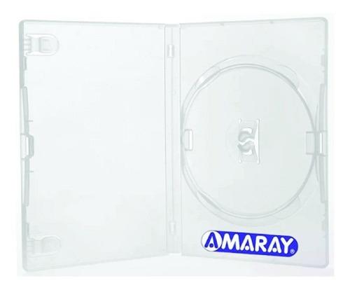 100 box dvd  slim amaray  7 mm transparente