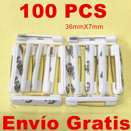 100 broche de seguro estafa pegamento adhesivo para gafetes