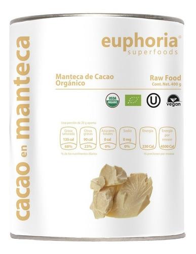 100% cacao en manteca certificado orgánico 400g