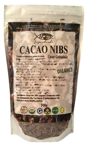 100% cacao nibs (virutas) orgánico certificado 500 gr