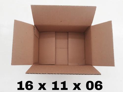 100 caixas de papelão 16x11x6 melhor preço