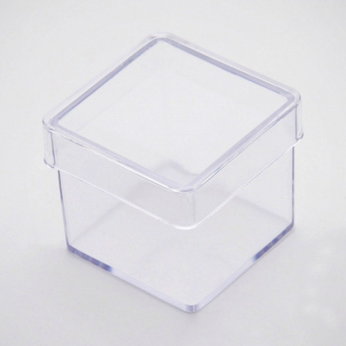 100 caixinha de acrilico 3x3 transparente