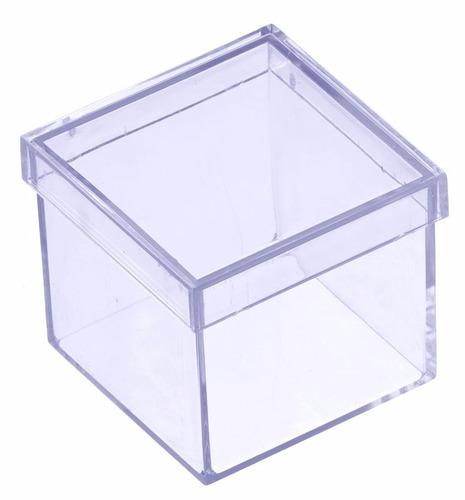 100 - caixinha de acrílico 5x5 lembrancinha temos adesivos !