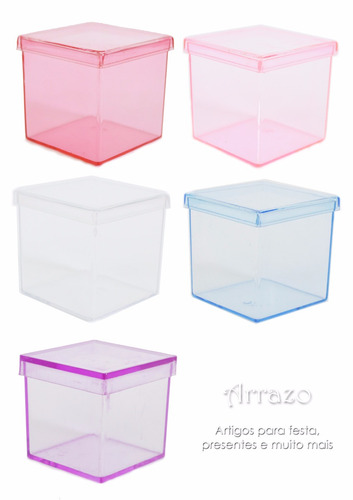 100 caixinhas 5x5 em acrílico para lembrancinhas