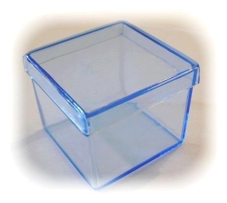 100 caixinhas de acrílico 5x5  lembrancinhas tampa presente