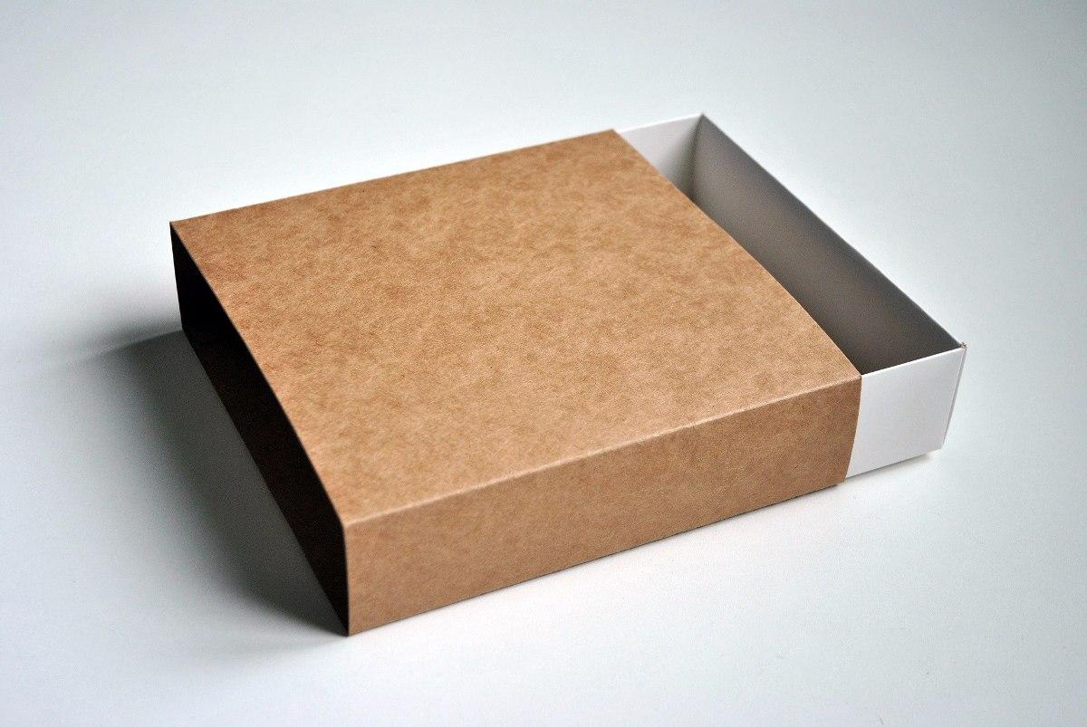 100 Cajas De Cartulina Kraft 20 X 20 X 5 Cm Tipo Fosforera 6440