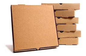 Paquete de 100 Caja pizza Fiesta kraft 30cm