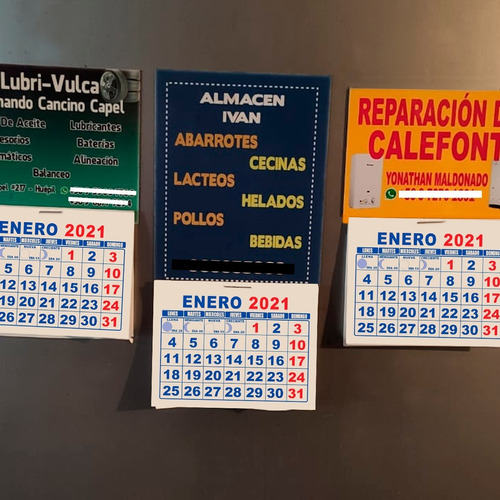 100 calendarios imantados magnéticos personalizados