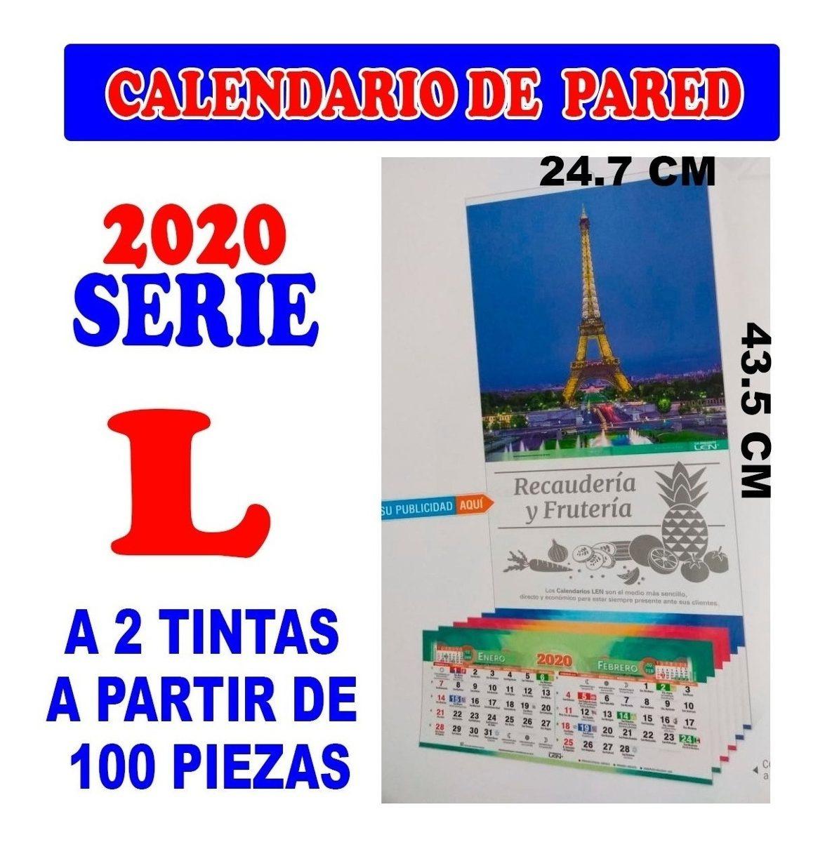 Calendario Belen 2020.100 Calendarios Len 2020 Personalizados Serie L