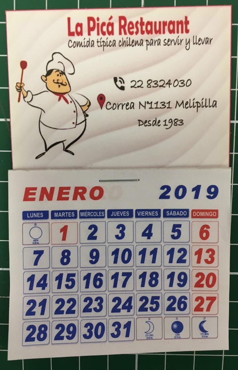 Calendario Chile 2020.100 Calendarios Magneticos 2020 7x12cm Personalizados 15 000