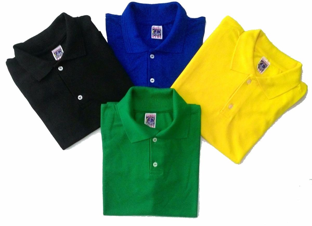 100 Camisas Pólo Com Logo Bordada  Uniforme  (promocional) - R ... 5534a20d105