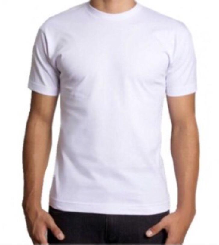 1bf3dba788e33 100 camisetas básica lisas 100% algodão branca sem estampa. Carregando zoom.