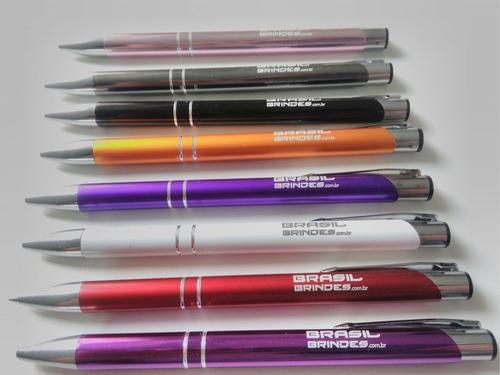 100 canetas metal personalizadas c/ logo gravação a laser