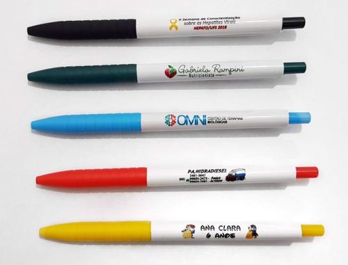 100 canetas personalizadas -  mod 401 - impressão colorida