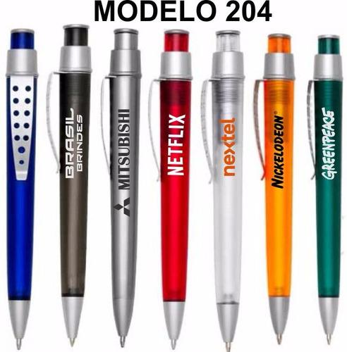 100 canetas personalizadas p/ brindes, eventos, festividades