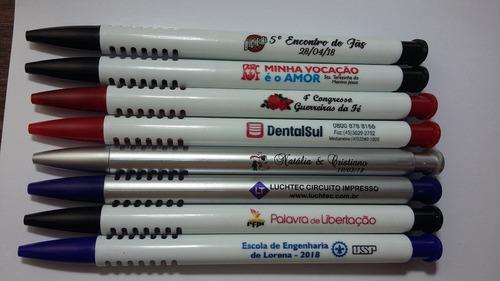 100 canetas personalizadas -  promoção - impressão colorida